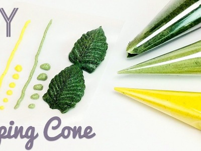 DIY cellophane piping cone - for buttercream, royal icing, chocolate, henna