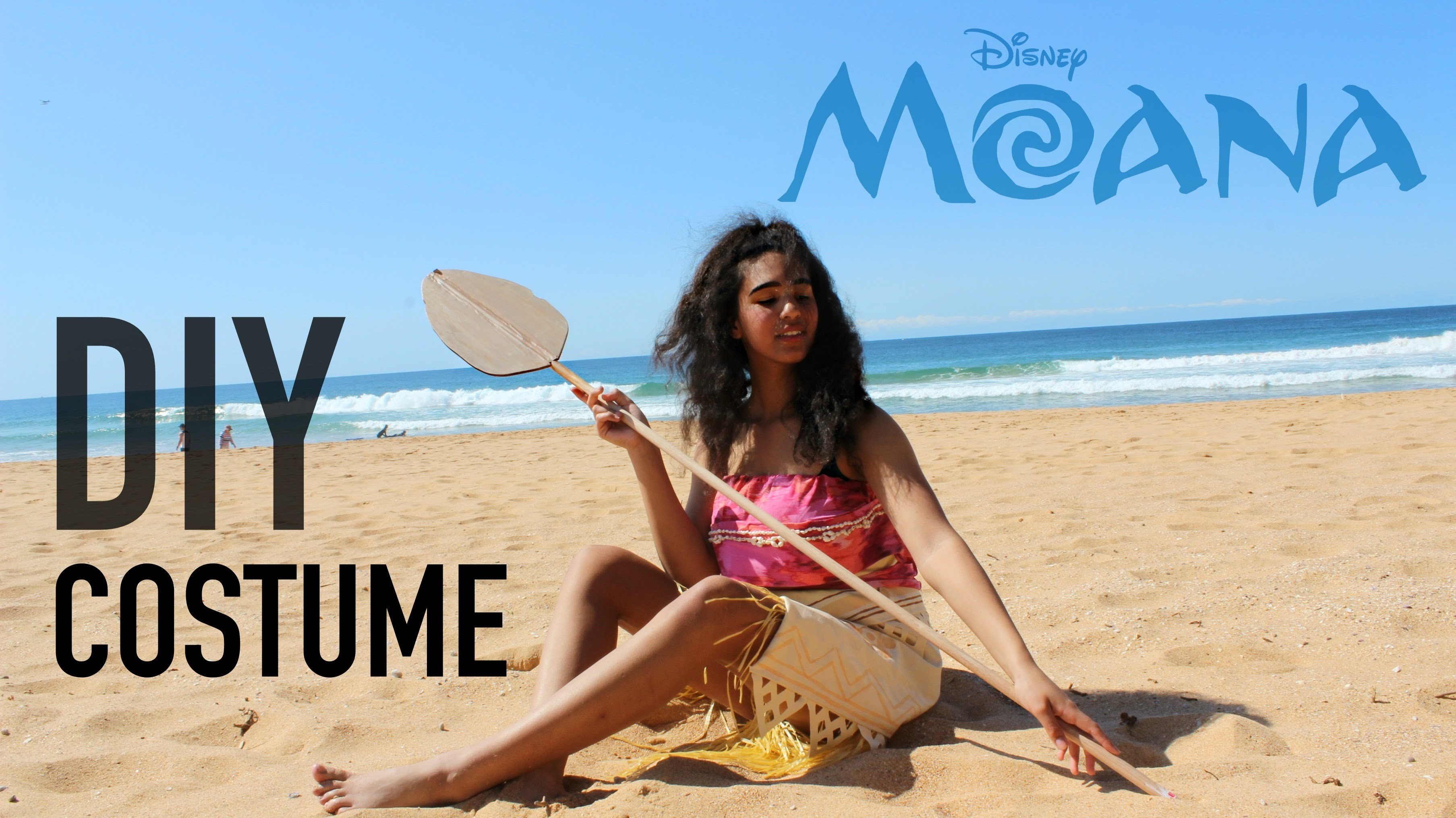 DIY Easy, No-Sew Moana Costume (Disney Princess Cosplay.Halloween Tutorial) | Natasha Rose