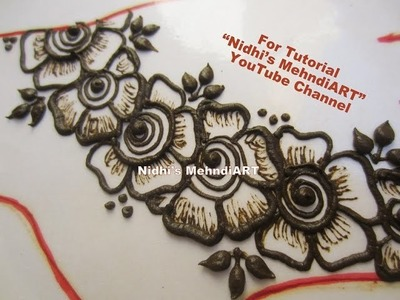 DIY Easy Shaded Arabic Flower Henna Mehndi Art Design Tutorial for Back Hand
