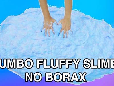 DIY GIANT FLUFFY SLIME WITHOUT BORAX! FEELS LIKE A CLOUD! JUMBOFIED!