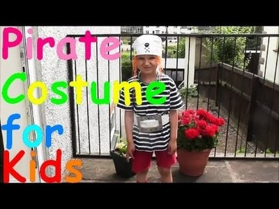 DIY Home Made Pirate Party Costume for KIDS - Last Minute Dress Up!
