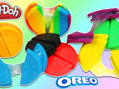 DIY How to Make Colorful Rainbow SLIME Oreo Cookies!