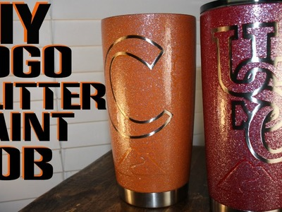 DIY - HOW TO MAKE LOGO GLITTER PAINTED YETI REC PRO OZARK TRAIL