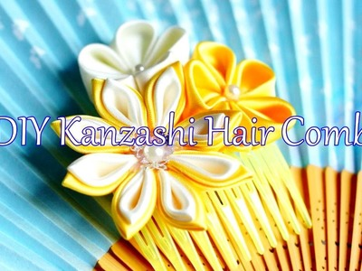 DIY Kanzashi Haircomb - Summer Vibes