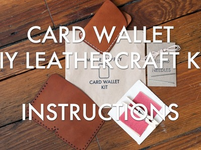 DIY Leathercraft Kit Instructions: Card Wallet