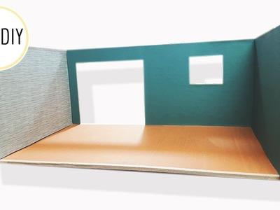 DIY Miniature Room Box. Dollhouse - miniDIY