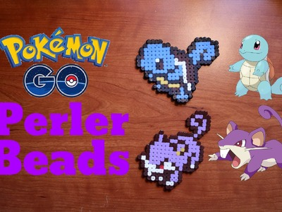DIY Pokemon Go: Squirtle & Rattata (Hama.Perler Beads) Tutorial #27