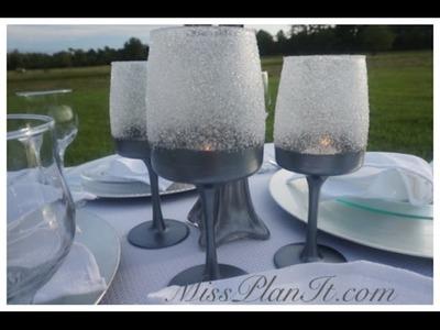 DIY: Quick Tip Wine Glass Candelabra for Under $8.00!
