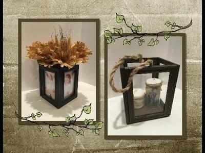 DIY Terrarium made from Dollar Tree frames. .