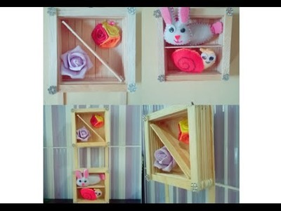 DIY wall hanging from ice cream stick