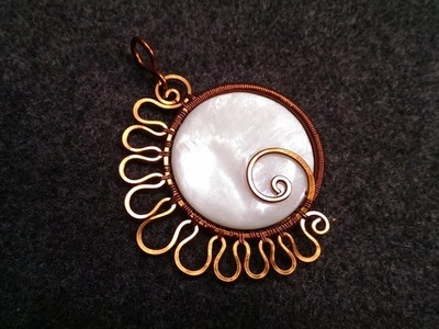 Handmade jewelry tutorials - Wire Jewelry Lessons - DIY - How to make pendant
