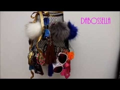 Hanging Jewelry Basket DIY $2 Dollar Tree(waste basket)
