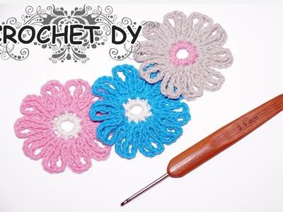 How to crochet a flower easy .  crochet DY