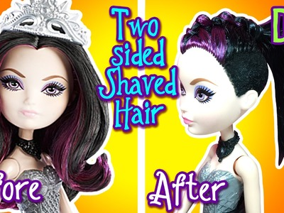 How to Cut Two Sided Shaved Hairstyle For Doll - DIY - Ever After High Tutorial