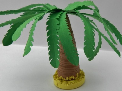 How to make a 3d  quilling palm tree  DIY (tutorial + free pattern)