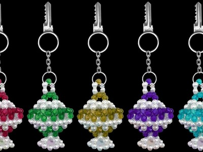 How To Make A Crystal Beaded Keychain At Home : DIY Tutorials