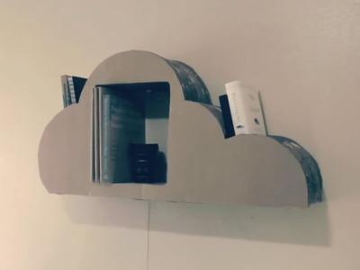 How To Make Cardboard Cloud Bookshelf