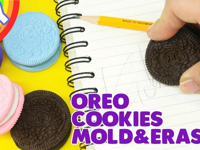 How to make Oreo Cookies Mold & Eraser  DIY - School hacks