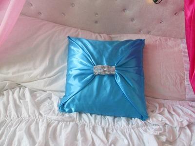No sew bow  cushion DIY
