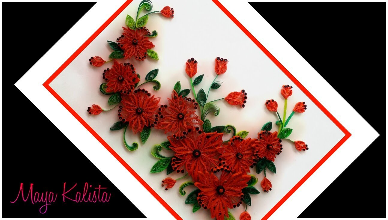 Paper Quilling Flowers Designs Quilling Wall Frame Designs Diy