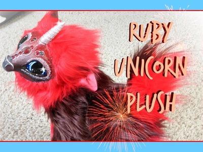 Posable Ruby Unicorn Plush DIY