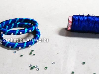 Silk Thread Bangles Making Tutorial For Beginners - DIY Fancy Bangles