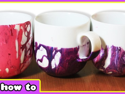 Use Your Old Nail Polish To Create Beautiful Cup Designs - DIY Home Decor Arts and Crafts