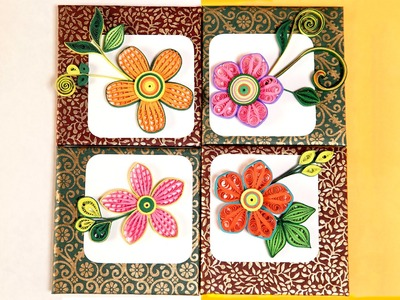 Wall Frames Flowers DIY | Paper Quilling Designs | DIY Room Decor