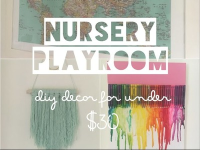 DECORATING A NURSERY. PLAYROOM ON A BUDGET | DIY Decor - Mummy Maker