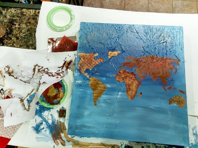 DIY Canvas World Map in 1 hour