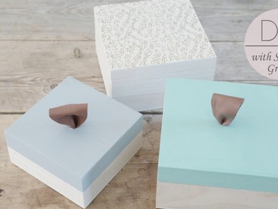 DIY: Decorative boxes with leather handle by Søstrene Grene