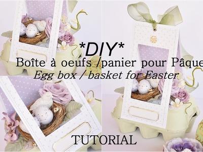 DIY Pâques.Easter boîte à oeufs