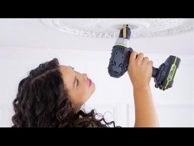 DIY Parisian-Inspired Ceiling Medallion   Eye on Design