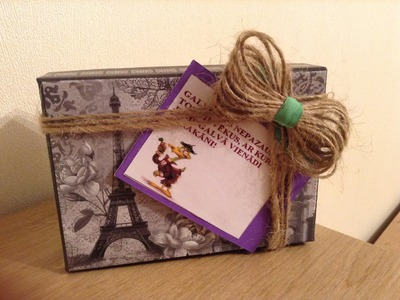 DIY - Rope gift-box and bow decoration