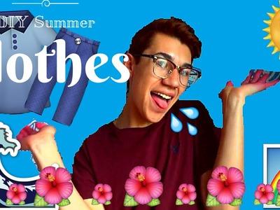 DIY summer clothes ! old clothes to summer fun !