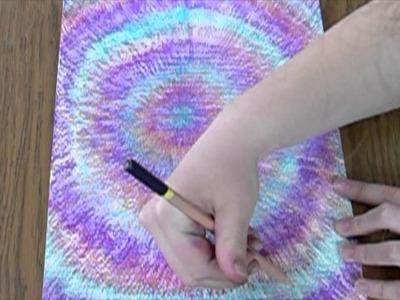 DIY Tie Dye Bedroom Wall Art