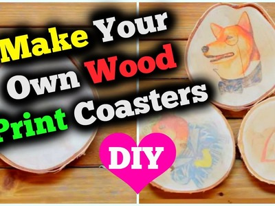 DIY Wood Print Coasters