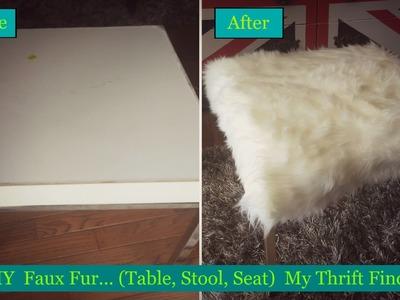 Faux Fur DIY. Thrift Store Find