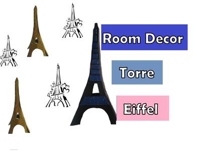 Manualidades -  Diy Torre Eiffel  decoracion -  Diy super facil! Eiffel tower Diy  easy room decor!
