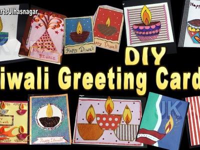 14 Diwali Greeting Cards Making  Video Compilation | DIY How to make | JK Arts 1078