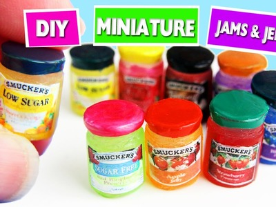 5 minute crafts - DIY Miniature Realistic Dollhouse Jelly and Jam Jars