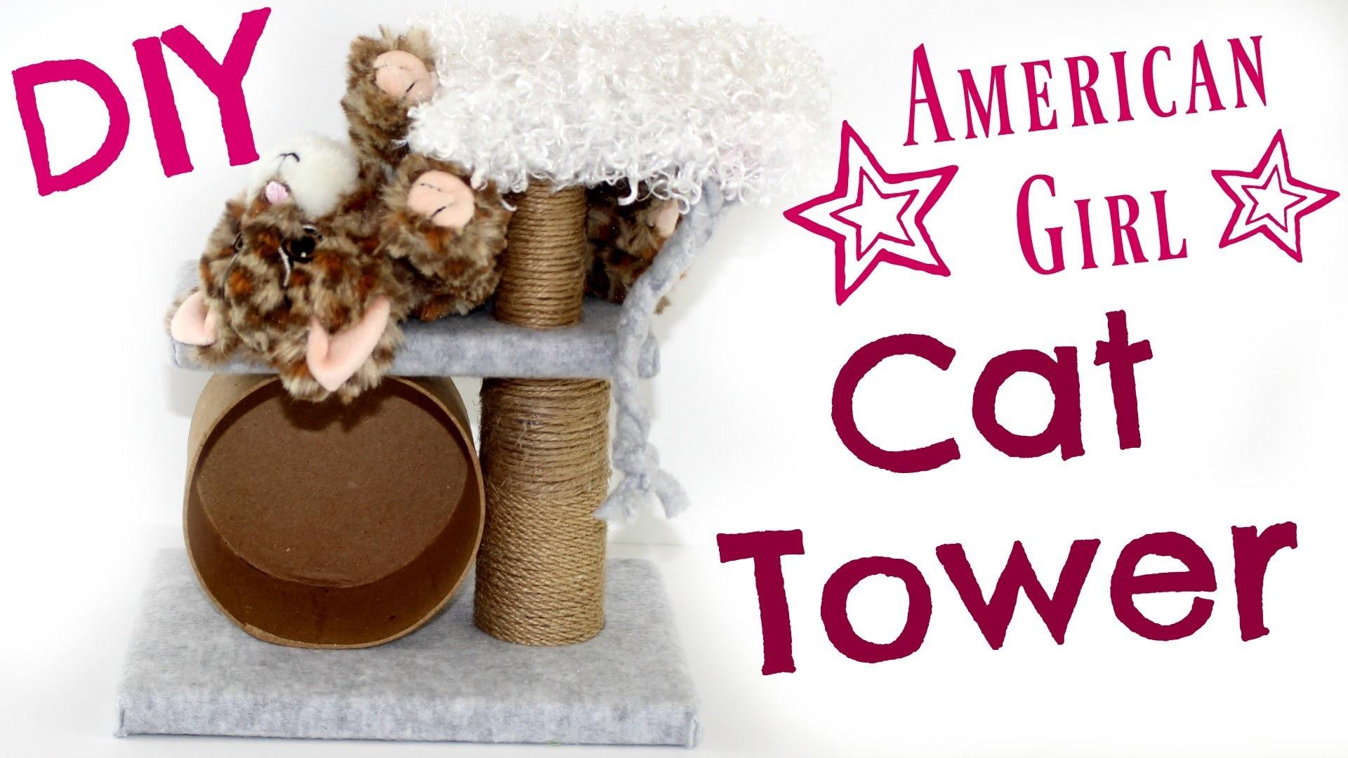 American Girl Doll Pet Toys | DIY American Girl Doll Cat Tower Craft