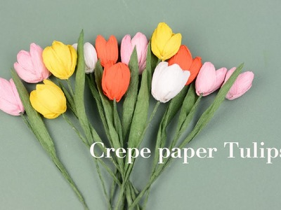 Crepe paper flower Tulips | Easy tutorial | Creative DIY