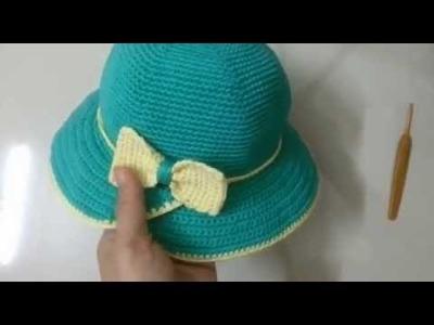 (crochet) How to crochet beautiful hat for ladies.