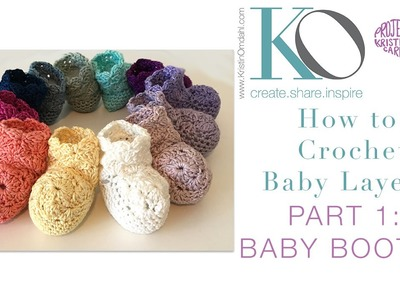 Crochet Layette Part 1: Newborn Baby Booties
