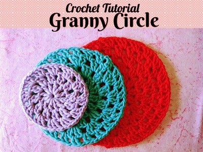 Crochet Made Easy - How to make a Granny Circle (Tutorial) ♥ Pearl Gomez ♥