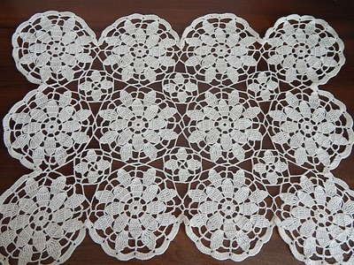 CROCHET motif doily tablecloth blanket tutorial Part 3