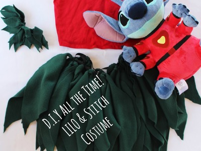 D.I.Y Allthe Time! LILO & Stitch Costume! No sew No glue