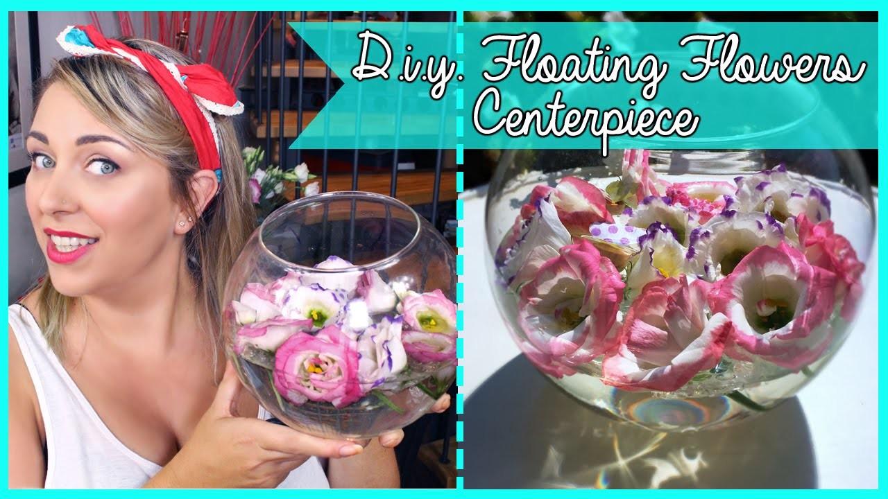 D.I.Y. Floating Flowers Centerpiece - Centrotavola con fiori galleggianti fai da te | Giugizu