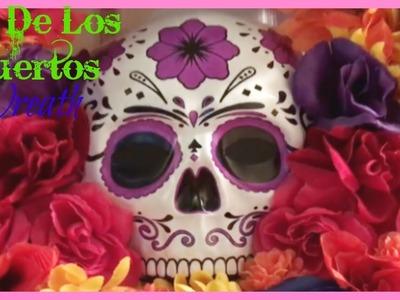 Dia De Los Muertos Wreath | Inexpensive DIY Halloween Wreath